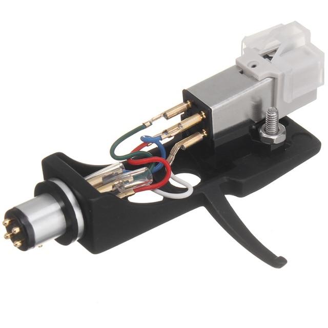 1 pz stilo a cartuccia magnetica con giradischi Headshell contatti a 4 Pin per giradischi fonografo grammofono LP ago in vinile