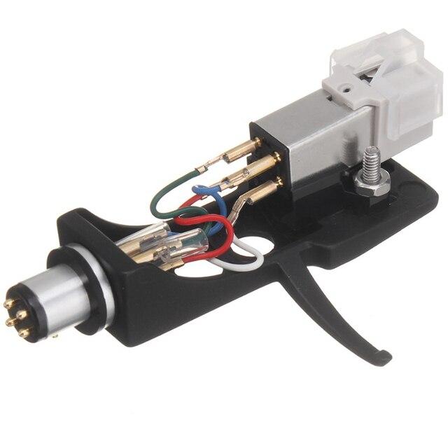 1 sztuk wkład magnetyczny rysik z gramofon Headshell 4 Pin kontakty dla fonogram gramofon gramofon winylowa płyta długogrająca igły