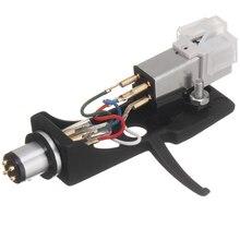 1pcs caneta cartucho magnético com headshell plataforma giratória 4 pinos contatos para fonógrafo turntable gramofone lp vinil agulha