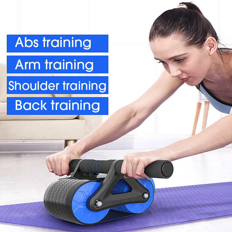 Automatic Rebound Abdominal Wheel Rollers AB Roller Trainer No Noise Workouts Muscle Exercise Equipment Home Fitness Training