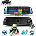 8 4G ADAS Radar DVR Carro Android Toque Traço Cam Espelho Retrovisor Do Carro Câmera Traço de Lente Dupla GPS navegação Bluetooth Wi fi