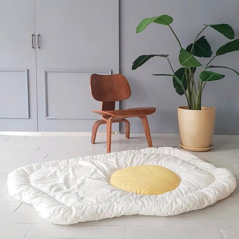 Baby Activity Developing Play Mat Gym Fried Egg Version Carpet Cotton Kids Playmat Decoration Room YZL016