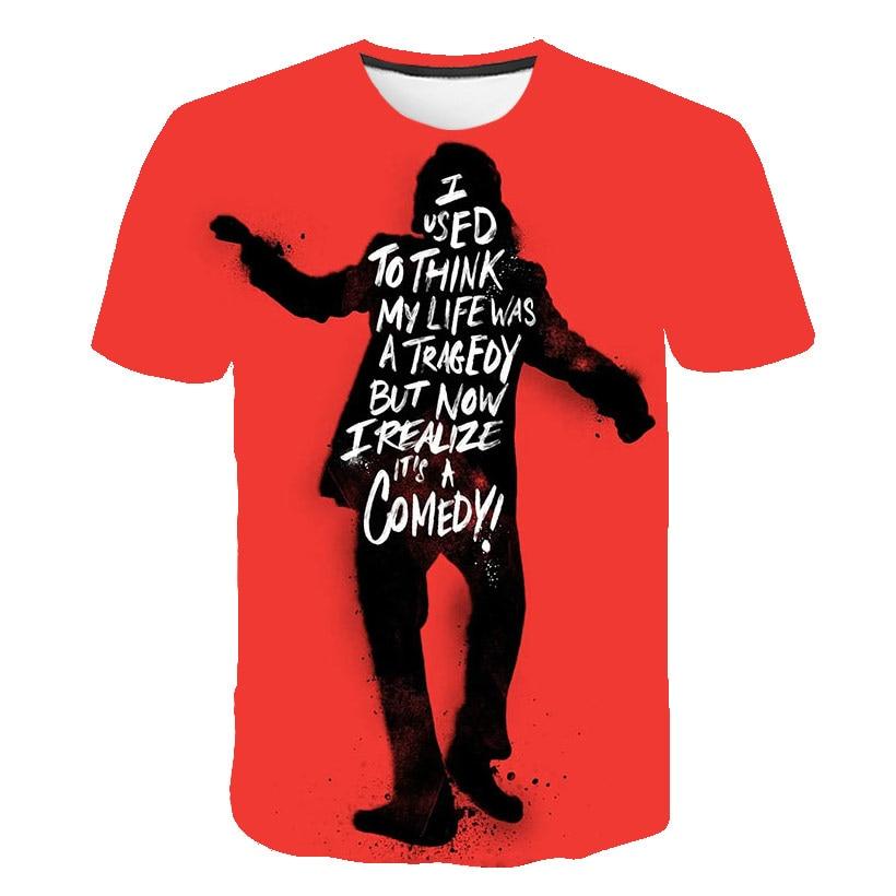 Plus Size XXL-5XL Cool Joker 2019 new T Shirt Summer Why So Serious Harajuku T-shirt Crew Neck Casual Tee Shirt Homme De Marque
