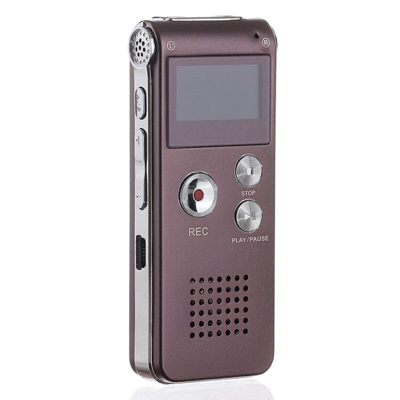 Portable Mini 8GB/16GB Voice Recorder LCD Rechargeable Digital Audio Sound Recording MP3 Player