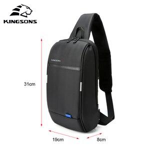 Image 4 - Kingsons 2019 New 3174 A  Leisure Travel Single Shoulder Backpack 10.1 inch Chest Backpack For Men Women Casual Crossbody Bag
