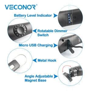 Image 2 - Luz de trabajo COB recargable para mantenimiento de inspección de coche, luz de trabajo portátil para exteriores, carga USB ajustable, luz de emergencia portátil de mano