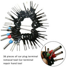 36Pcs New Car Plug Terminal Removal Electrical Wiring Crimp Connector Pin Extractor Kit Automobiles Terminal Repair Hand Tools(China)