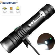 60000 Lums LED Ultra lumineuse lampe de poche USB linterna torche led T6/L2/V6 lanterne puissance conseils vélo lumière Rechargeable utilisation 18650