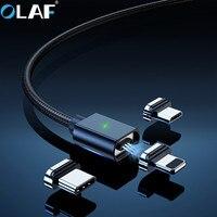 Cavo magnetico per caricabatterie OLAF cavo Micro USB tipo C per iPhone 7 Xiaomi cavo di ricarica USB magnetico rapido per telefono cellulare Samsung 2m