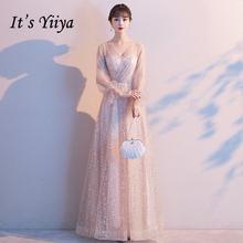 Женское длинное вечернее платье it's yiiya розовое из крепа