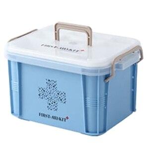 Caja médica, Kit de primeros auxilios, organizador de plástico, contenedor de almacenamiento, caja de Medicina de múltiples capas, cajas de organización nórdica para el hogar