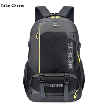 цена Black 2020 New High Quality Nylon Waterproof Men Backpack Large Capacity Couple Leisure Outdoor Travel Backpack Youth Sports Bag онлайн в 2017 году