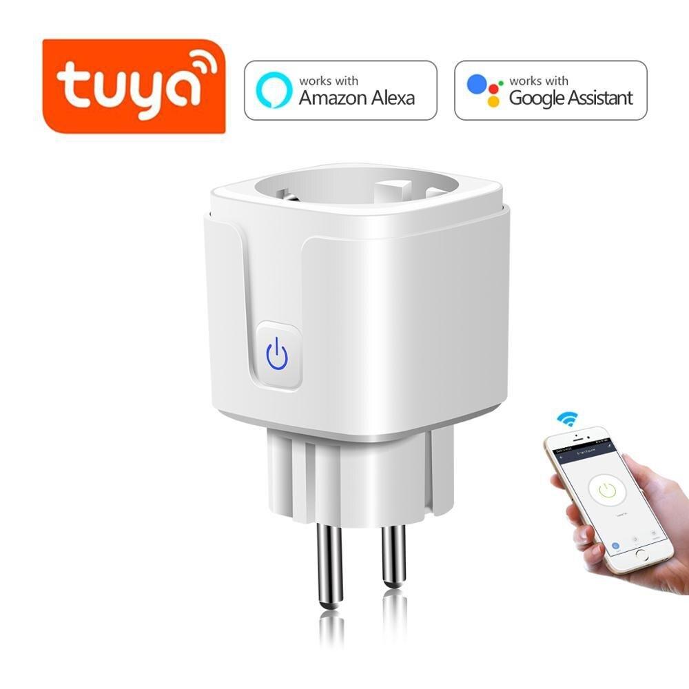 Tuya Smart Life App WI-FI Беспроводной дистанционного умная розетка адаптер голосового Управление EU/US розетка Мощность работать с Alexa Google Home
