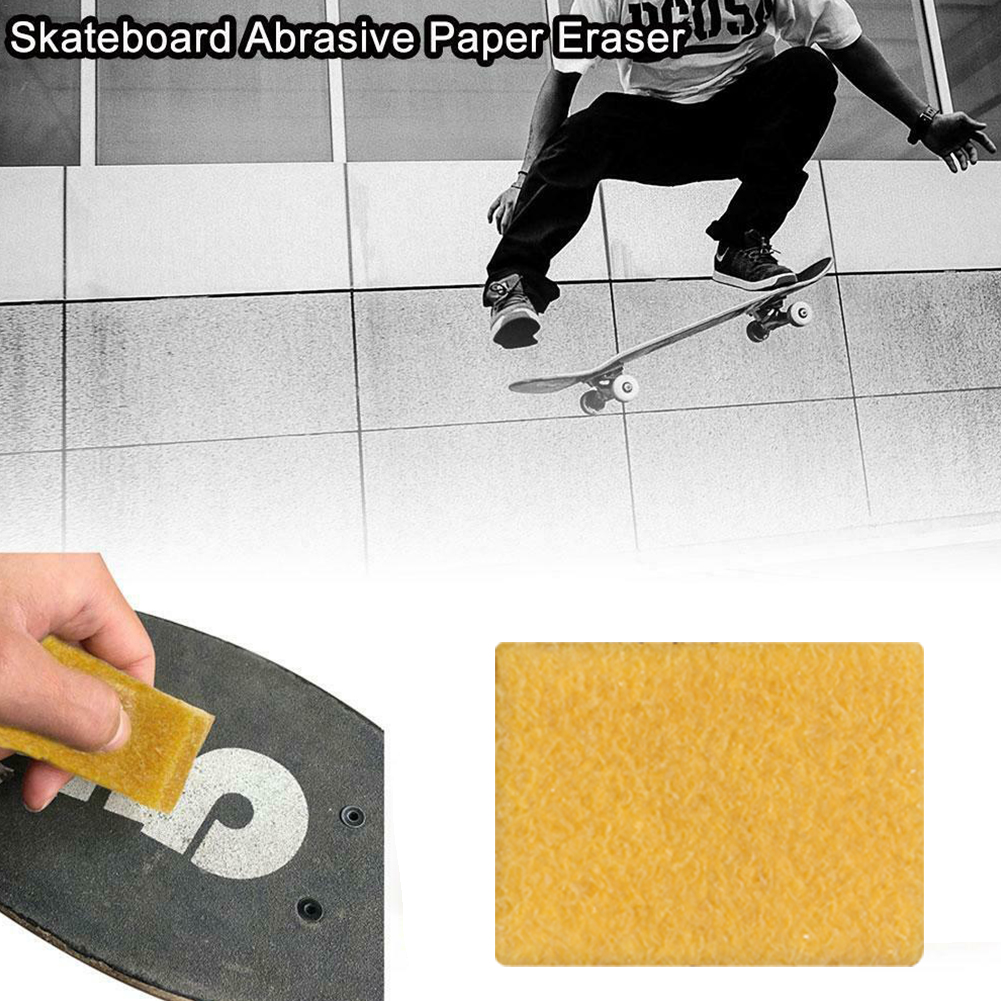 10pcs Skateboard Easy Apply Accessories Sandpaper Cleaner Griptape Eraser Practical Long Board Cleaning Sponge Home Portable