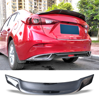 Car Trunk Spoiler Carbon Fiber Auto Rear Trunk Wing R Style Refit Accessories Spoiler For Mazda 3 Axela 2014 2017 Spoilers & Wings Automobiles & Motorcycles -