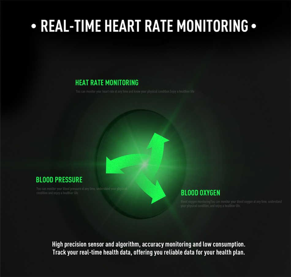 LIGE moda spor akıllı saat erkekler kadınlar spor izci adam kalp hızı monitörü kan basıncı fonksiyonu iPhone için smartwatch