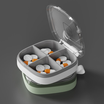 4/6 Grid Pill Case Storage Box Diabetic Pill Box Compartment Weekly Medicine Tablet Dispenser Splitters 7-day Pill organizer 7 grids portable weekly pill box storage case pill case container mini medicine organizer tablet dispenser splitters
