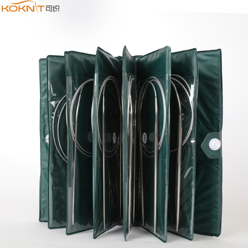 11 サイズステンレス鋼サーキュラーニット針キット糸織りdiyニット針フックセットとバッグ 43 センチメートル 65 センチメートル 80 センチメートルの長さ