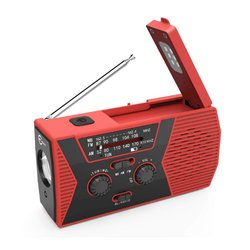 Solar Power Hand-Cranked Multifunctional Manual Radio Solar Charging Radio Reading Light With Flashlight