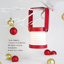 Christmas Gift Portable Lamp Flash Night light Reading Dimmable Rechargeable Bedside Novelty Night Lights Decorative Lamps