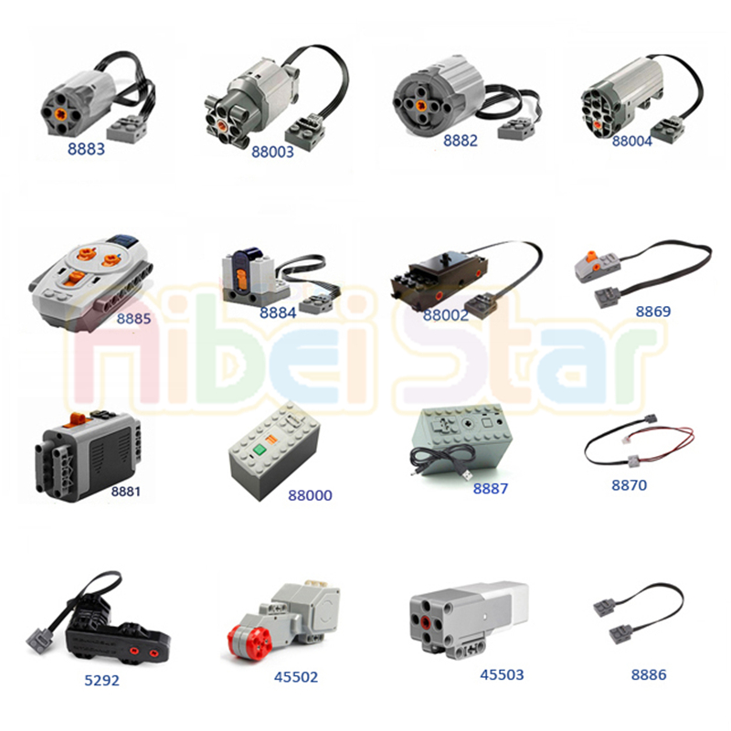Technic Compatible Parts For Legoing Multi Functions Power Tool Servo Blocks Train Electric Motor PF Model Set Of A Building Kit