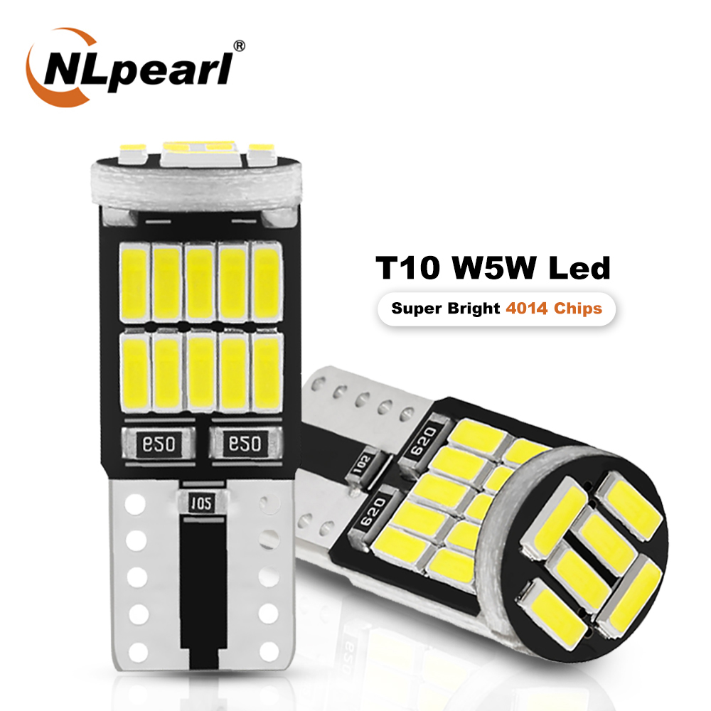 NLpearl 2/4x Signal Lampe T10 W5w Led Canbus 4014 SMD W5w Led 168 194 Auto-Clearance Lichter Led lesen Innen Licht Weiß 12V