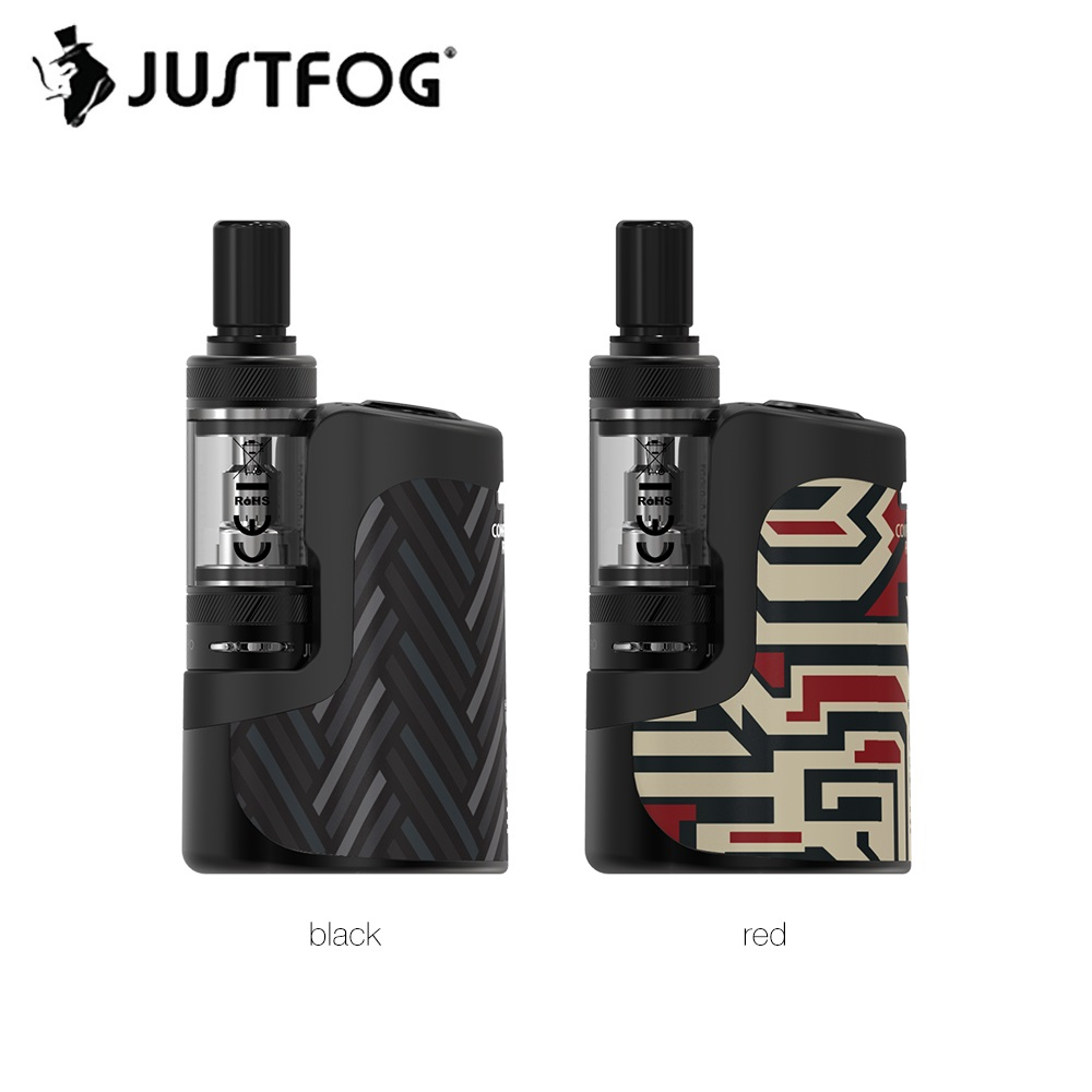 Original JUSTFOG Compact 16 Kit Wi/ 1400mAh Buil-in Battery 1.9ml Q16 Pro-C Clearomizer 3-Level Voltage Ecig Vape Kit VS Q16 Pro