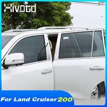 Hivotd Auto Fenster Trim Abdeckung Außen Aufkleber Zubehör Auto Modifikation Teile Dekoration Für Toyota Land Cruiser 200 2020
