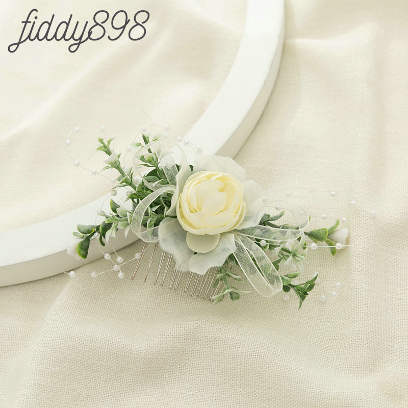 2019 Newest Bride Wedding Artificial Flower and Leaf  Hair Comb Headwear Greenery Floral Headpiece Accessories
