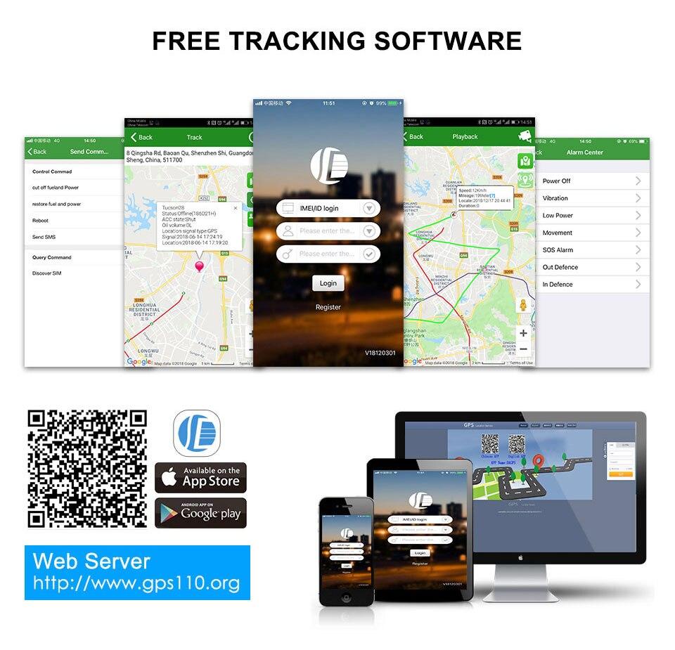 Mini Car Tracker Vehicle GPS Tracker TK108 2G GSM Tracker Cut Off Oil Power Vibration Alarm Relay Tracker Waterproof PK TK905 6