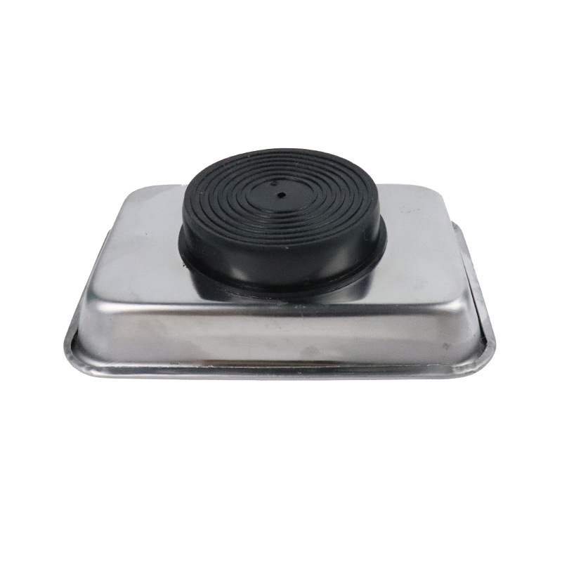 Hot 1Pc Magnetic Tray Stainless Steel Circular Square Screw Tray For Automotive Parts Suction Pad Absorb Dish Tools
