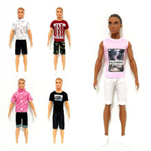 Pink Tank Top Trousers Set for 11inches Barbie BJD SD FR Ken Doll Clothes Accessories Dollhouse Role Play Dressing Up