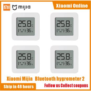 2020nowa wersja Xiaomi Mijia Bluetooth termometr 2 bezprzewodowy inteligentny elektryczny higrometr cyfrowy termometr czujnik wilgotności domu tanie i dobre opinie CN (pochodzenie) Xiaomi Mijia Bluetooth Thermometer 2 Gotowa do działania 1 12 WEJŚCIE Digital Hygrometer Thermometer