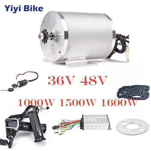 36V 48V Elektrische Bike Conversion Kit 1000W DC Bürstenlosen Motor 12mosfet bldc Controller Mit LCD Twist gas Kette Zubehör