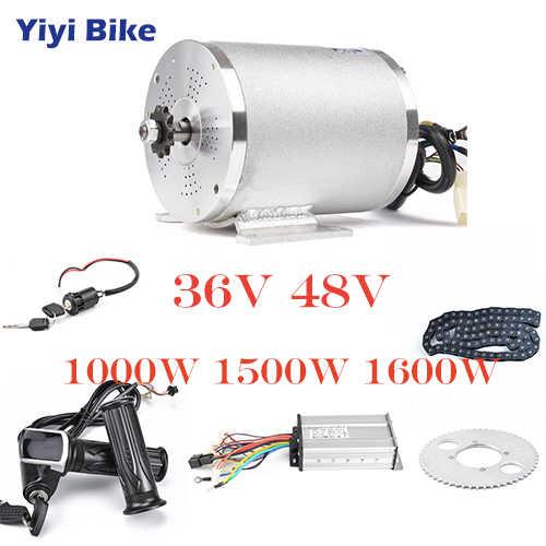 36V 48V Kit de Conversion de vélo électrique 1000W moteur sans brosse cc 12 contrôleur mosfet bldc avec accessoires de chaîne d'accélérateur de torsion d'affichage à cristaux liquides