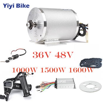 36V 48V Kit de conversión de bicicleta eléctrica 1000W DC Motor sin escobillas 12mosfet bldc controlador con LCD Twist acelerador cadena Accesorios