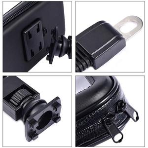 Image 5 - Motorcycle Telephone Holder Support Moto Bicycle Rear View Mirror Stand Mount Waterproof Scooter Motorbike Phone Bag for Samsung