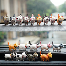9pcs/lot Mini Cat Car Dashboard Toys Decoration For Car Ornaments Cute Dolls Toys In Car Decoration Home Auto Accessories car clock ornaments auto watch air vents outlet clip mini decoration automotive dashboard time display clock in car accessories