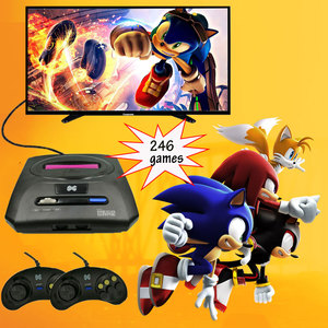 Mini Video TV Game 16 Bit For SEGA MD 2 Console AV Output Super Handheld Game Controller Wired Gamepad Built-in 368 Retro Games