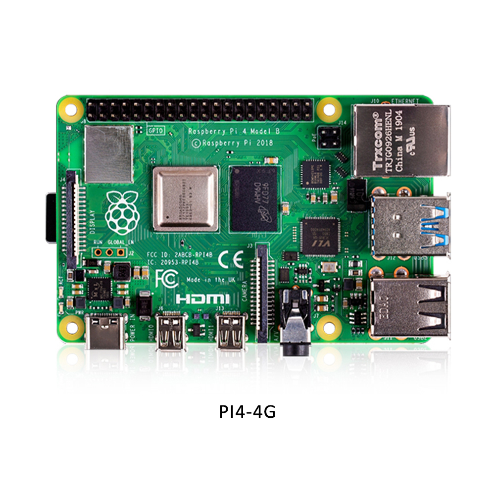 Original Raspberry Pi4 Model B Kit 4GB RAM + case with fan +EU/US/UK Type C 5V/3A Power charger+HDMI cable+32G TF card+ heatsink - 5