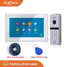 Новый 7 дюймовый сенсорный экран jeatone fhd 1080p видео домофон