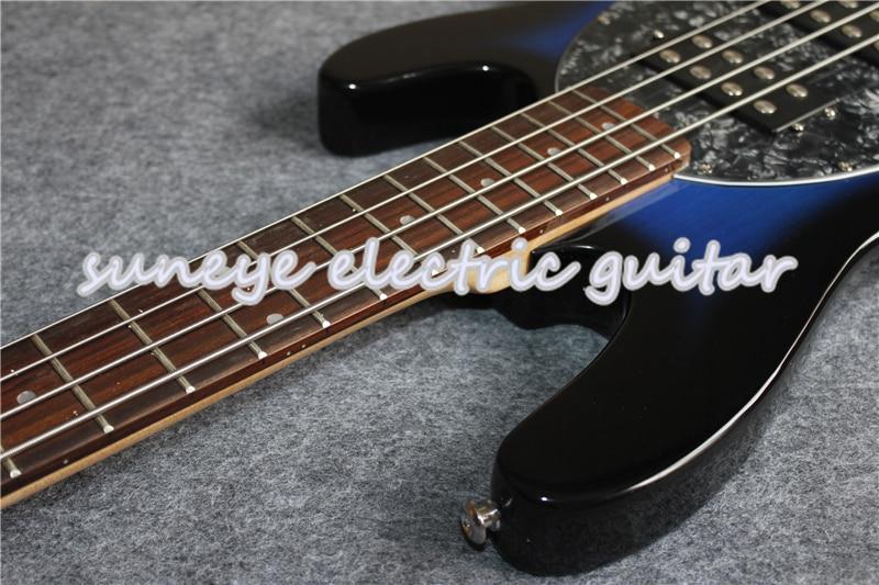 Vintage bleu brillant finition musique homme Style guitare basse électrique 4 cordes guitare basse avec Basswood guitare corps livraison gratuite - 5