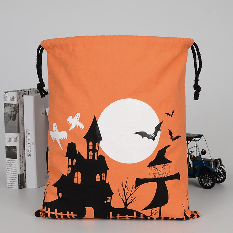 1PCS 36X44cm Halloween Pumpkin Witches Drawstring Bags Candy Cookie Gift Bag Candy Gift Storage Pouch Party Supplies