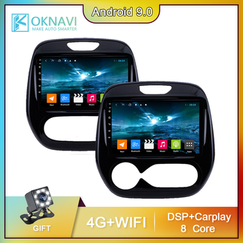 For Renault Captur Kaptur Car Radio Auto Multimedia Video DVD CD Player GPS Navigation Android 9.0 2016-2019 No 2 din Carplay image