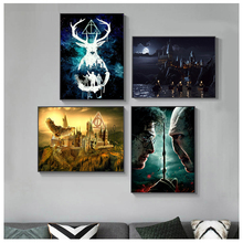 Poster Deer Painting Quadro Wall-Art-Picture Watercolor Canvas Prints Potteres Living-Room
