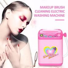 Washing Machine Toys Mini Washing Machine Brush Cleaner Cosmetic Automatic Electric Pink 360 Rotation Beauty Tool Kids Health цена и фото