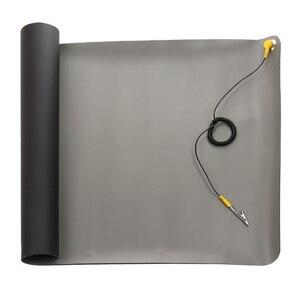 Image 2 - 1 шт. новый черный прочный Настольный антистатический коврик, силиконовые ESD заземляющие коврики 700*500 мм + шнур для ПК, ноутбука, инструменты для ремонта Mayitr