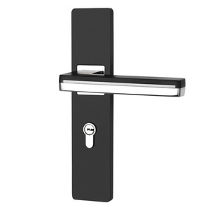 Image 5 - LED Light Door Handles for Interior Doors Zinc Alloy  Rosette and Plate Door Lever Set Wood Door Handle Lock