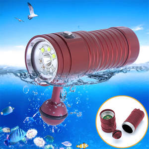 2PCS Professional Underwater Photography Video Light Diving Flashlight Waterproof IPX8 Torch Outdoor Watertight Flashlight