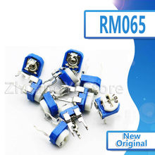 20 pçs rm065 RM-065 100 200 500 1 k 2 k 5 k 10 k 20 k 50 k 100 k 200 k 500 k 1 m ohm trimpot trimpot trimmer potenciômetro resistor variável